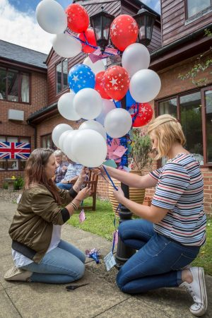 Washington's colourful independence party