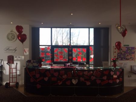 Special Decorations at Duchess Gardens for a Valentine's Ball