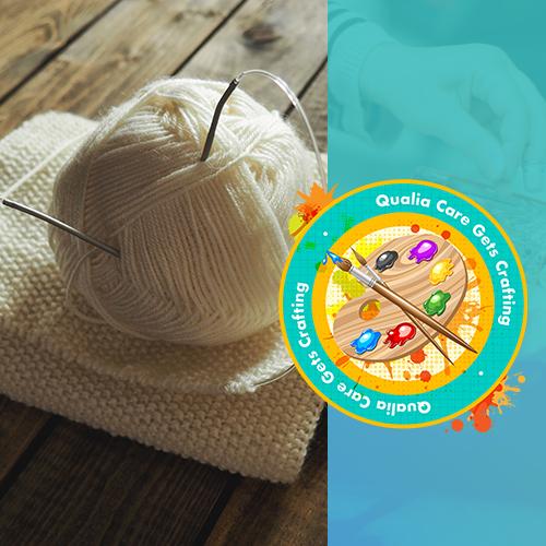 Residents of Washington Lodge get knitting