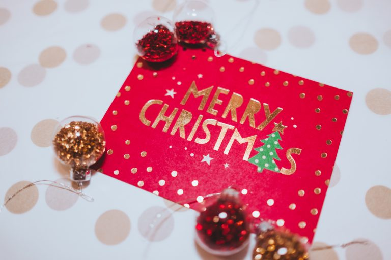 Residents post their Christmas cards at Sandycroft
